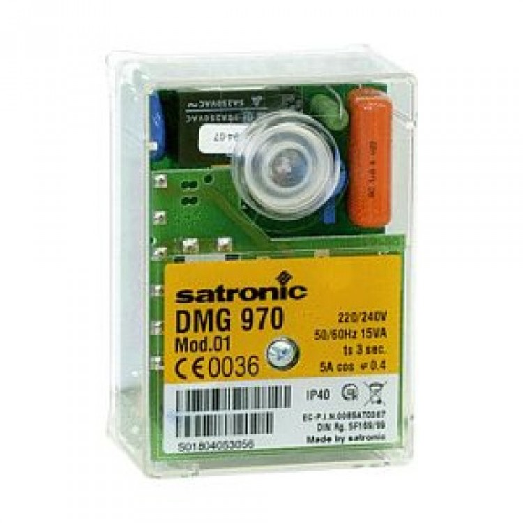 HONEYWELL/SATRONIC GAS  CONTROL BOX  DMG 970 MOD.01 240V