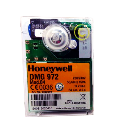 HONEYWELL/SATRONIC GAS CONTROL BOX  DMG 972 MOD4 240 V (0452004U)