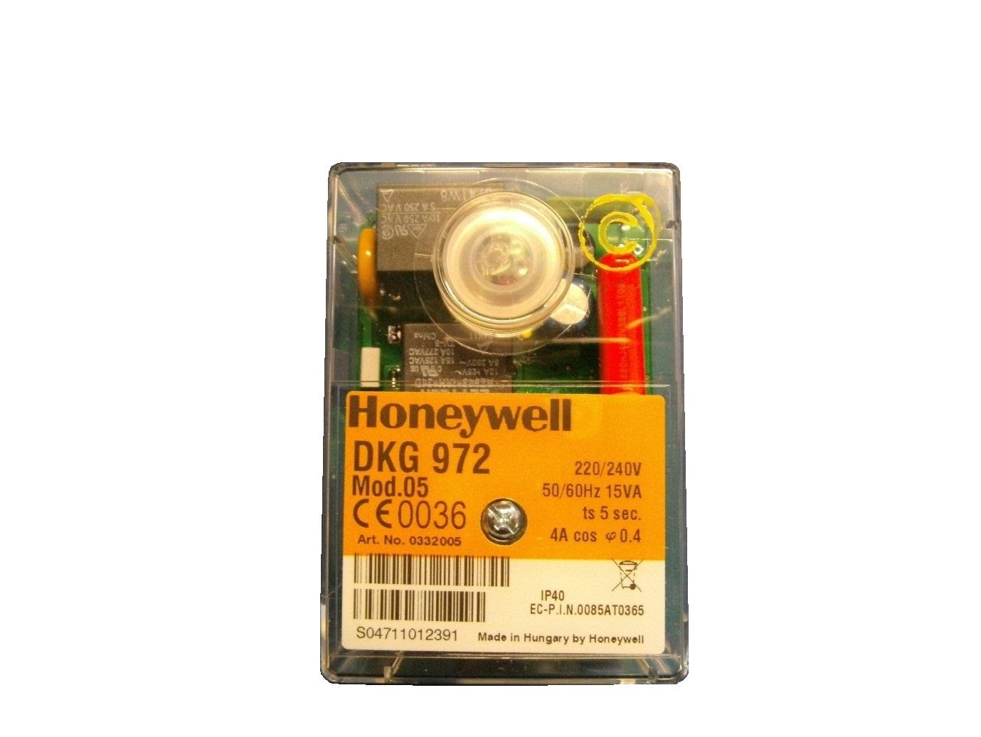 HONEYWELL/SATRONIC GAS CONTROL BOX  DKG972 MOD 5 /240V