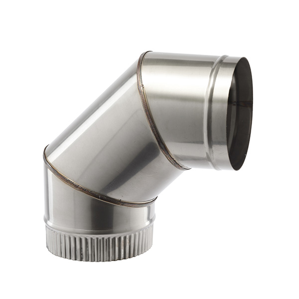 "254 MM(10"") X 90 DEG FLUE ELBOW ,  SINGLE WALL STAINLESS   SW304 FOR GAS AND OIL"